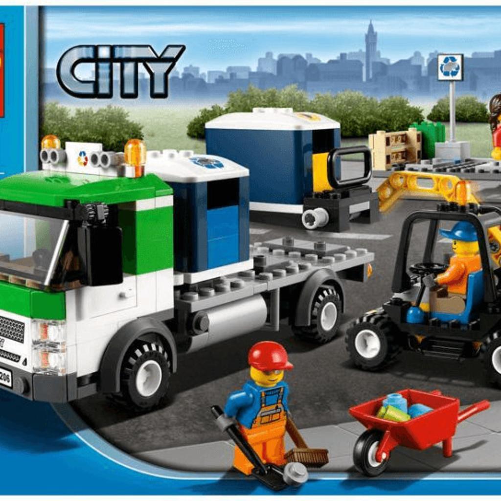 Boîte de Lego Camion de poubelle Boîte de Lego City (référence 4206)