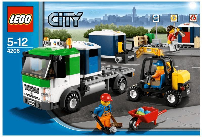 Boîte de Lego Camion de poubelle Boîte de Lego-City (référence 4206)