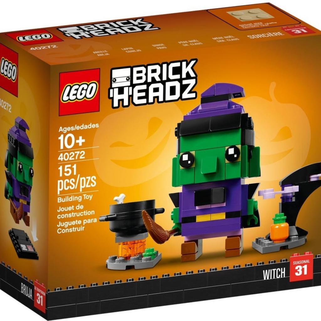 Boîte de Lego BrickHeadz – La sorcière d'Halloween (référence 40272)